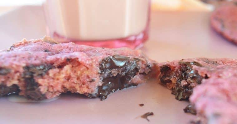 Chocolate Walnut Cookies – Vegan, Pink, & Purple!