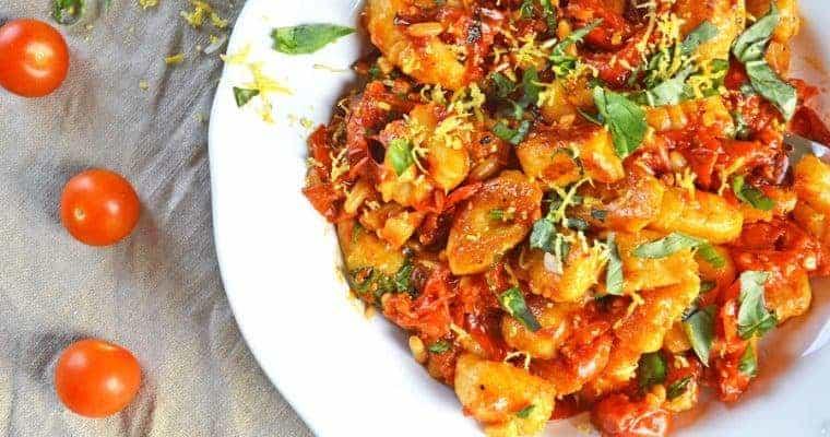 Vegan Gnocchi – Homemade,  with Tomato Confit