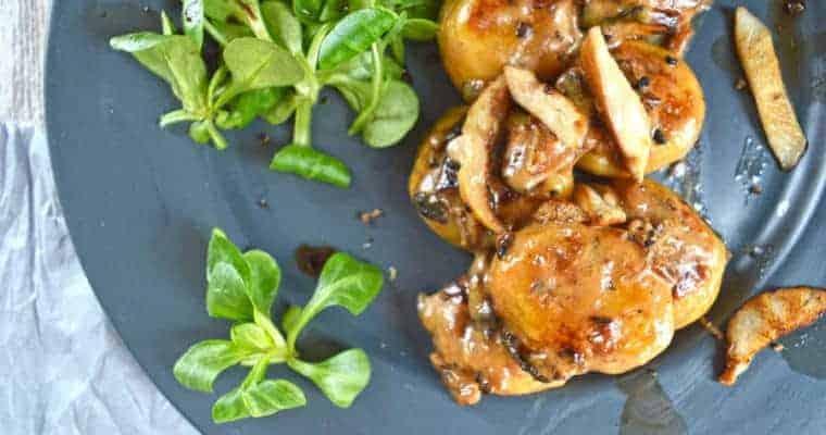 Stuffed Gnocchi with Truffled Mushroom & Caramelized Onion