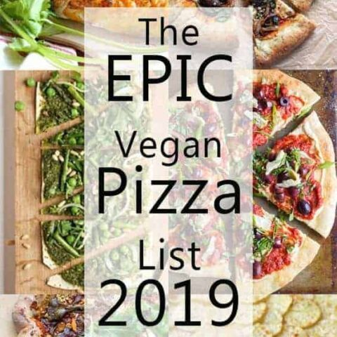 The epic vegan pizza list 2019 pin image