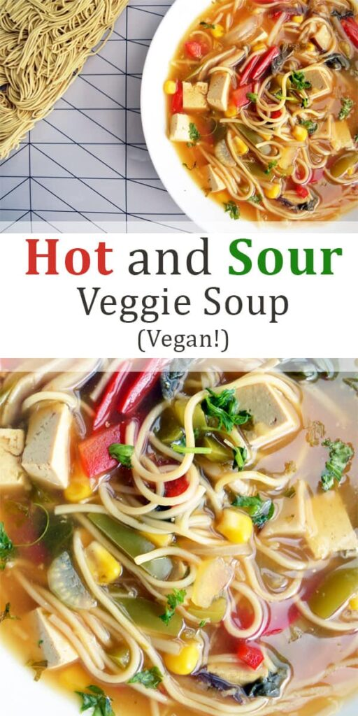 Vegan Hot and Sour soup pin