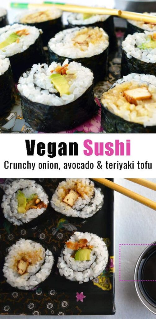 vegan sushi pin