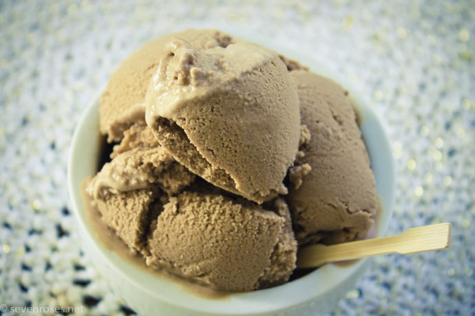Rich and creamy Vegan coffee ice cream