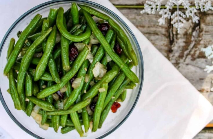 Bourbon Maple Glazed Green Beans