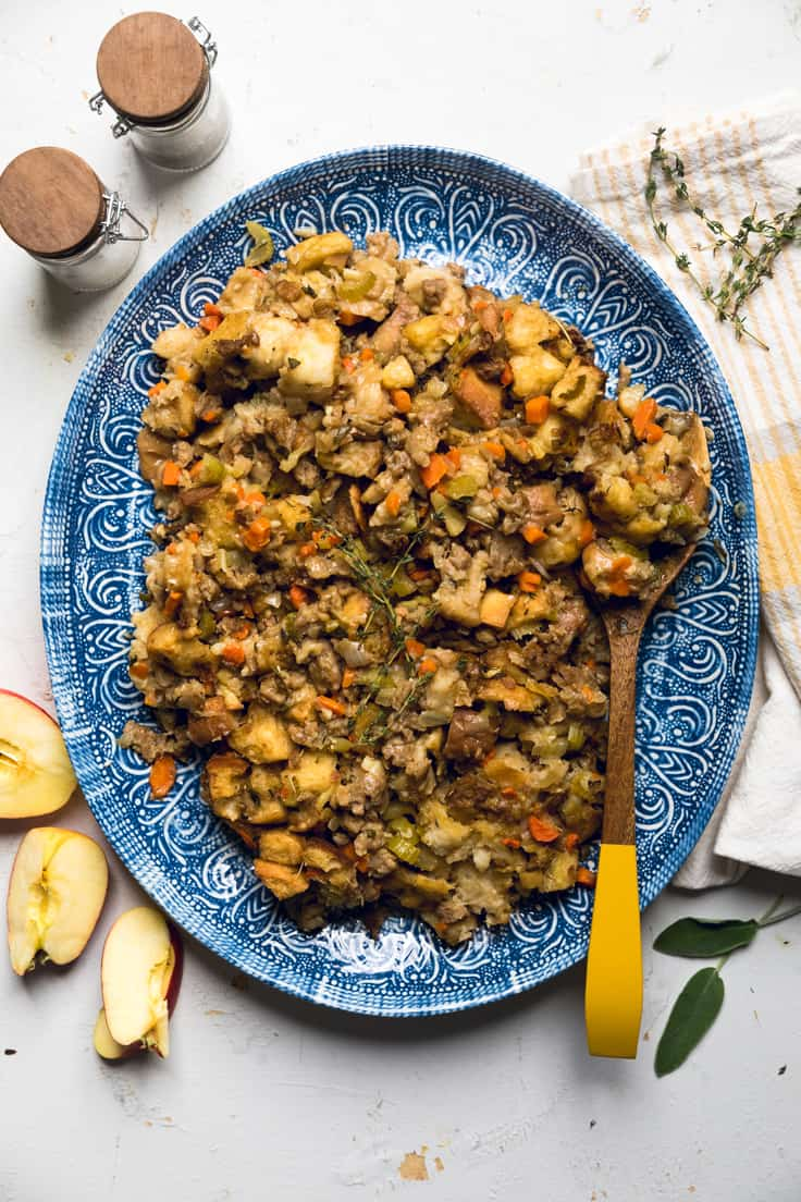 Vegan Apple and Sausage Stuffing