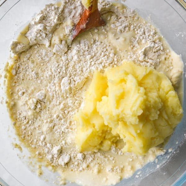 Flour and mashed potatoes